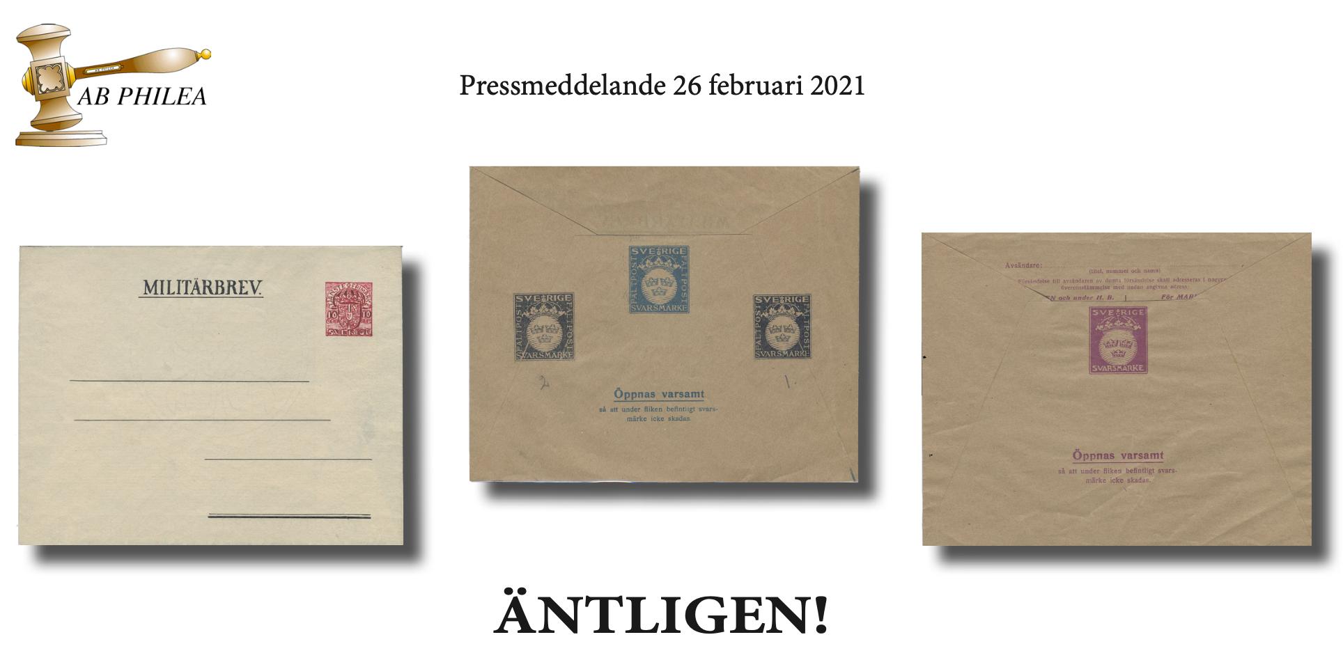 AB Philea säljer Harry Hohndorfs samling med militär posthistoria